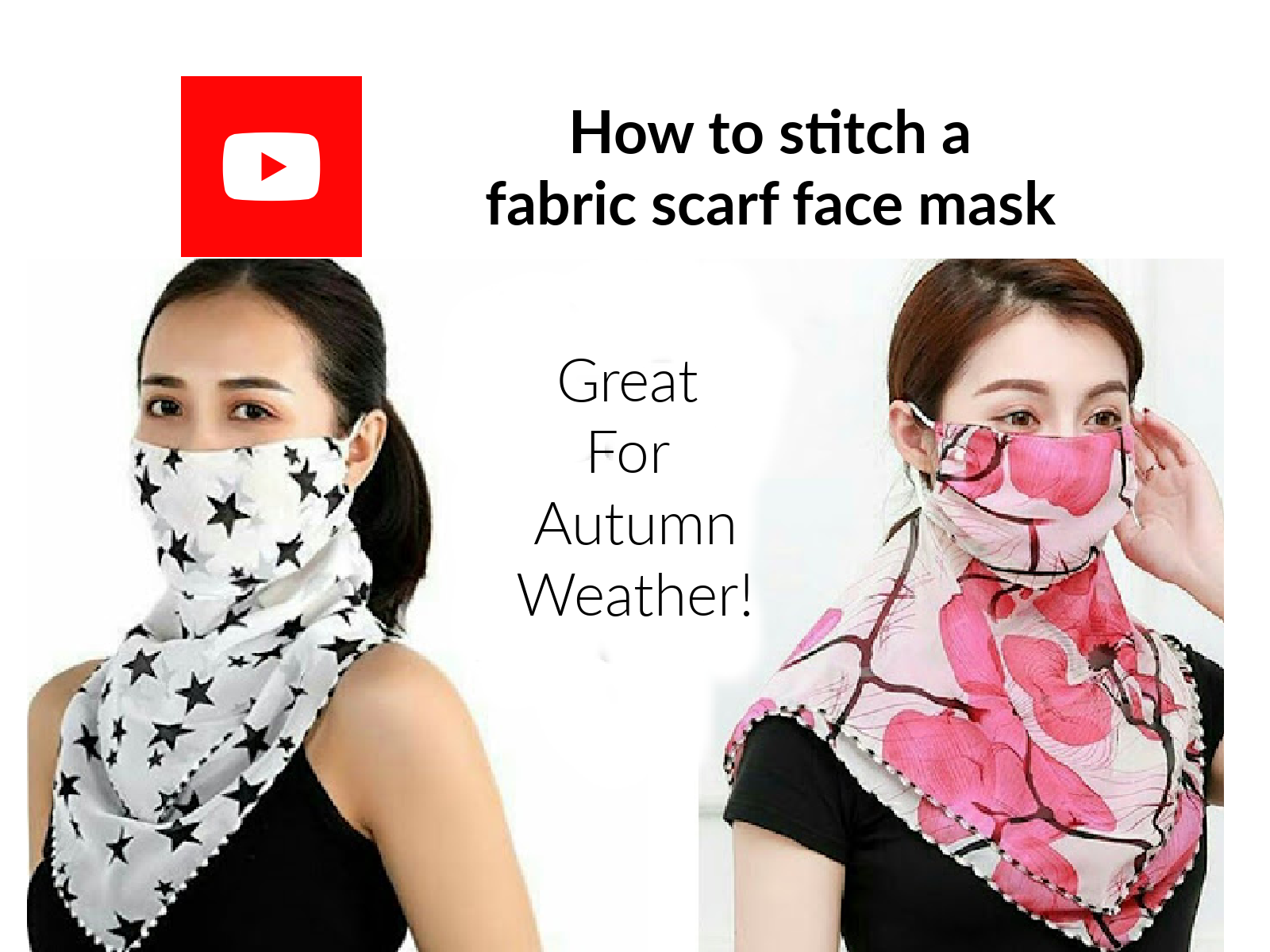 How to stitch a fabric scarf face mask
