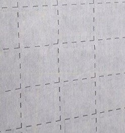 Non-woven Fusible 2 inch Grid White Interfacing