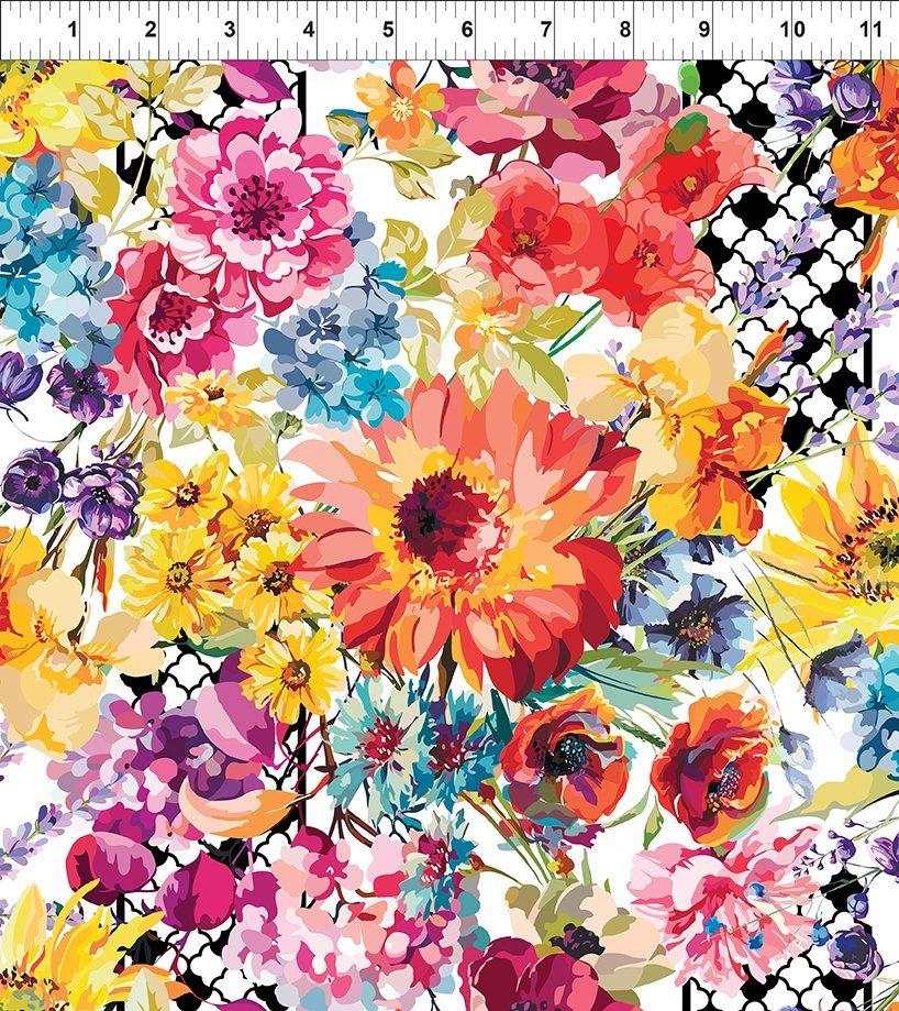 In the Beginning Hummingbird Lane - Floral Multi