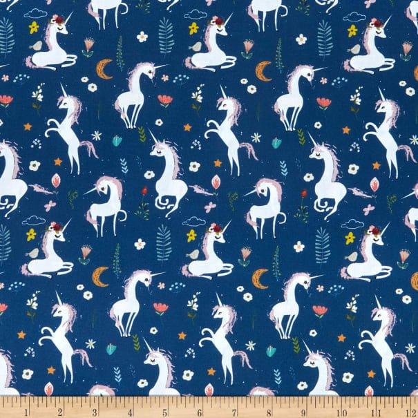 In The Beginning, Mermaids & Unicorns Unicorns Blue/Multi