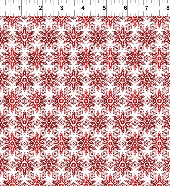 In the Beginning Winter Around the World - Red Snowflakes