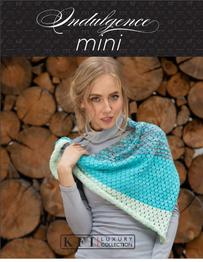 Knitting Fever Inc - Luxury Collection - Indulgence Mini  Shawl Kit (Desert Rose)