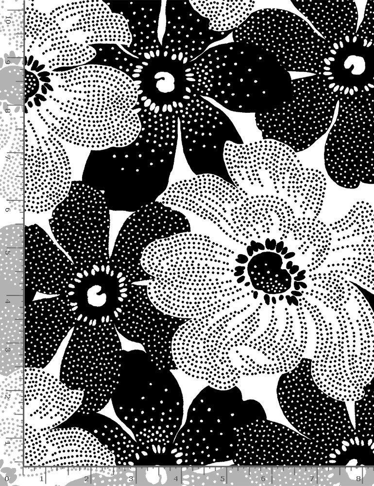 Timeless Treasures, Inked - Dot Flowers