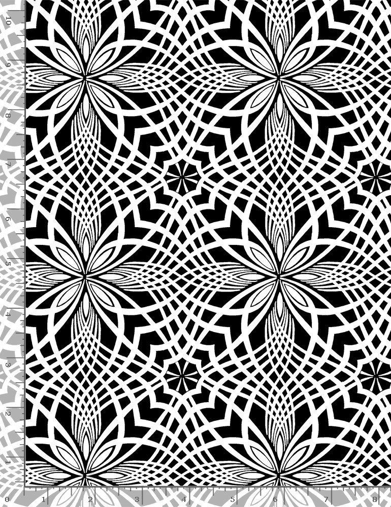 Timeless Treasures, Inked - Petal Tiles