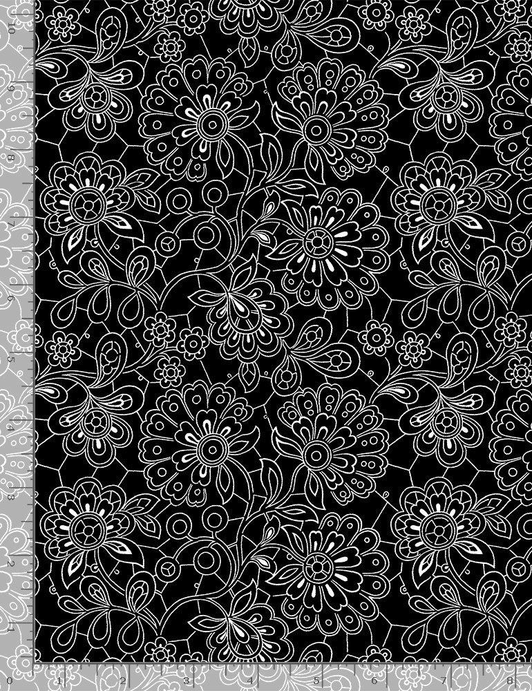 Timeless Treasures, Inked - Black Paisley