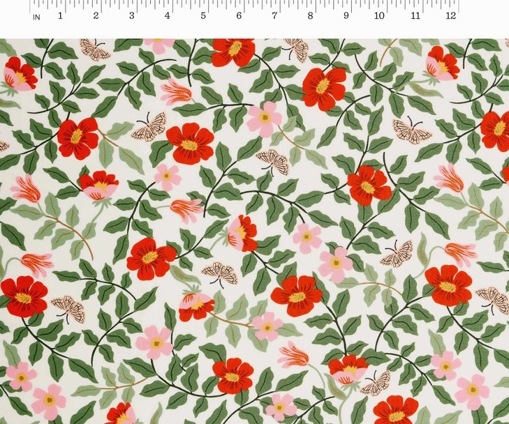 Cotton + Steel, Strawberry Fields - Primrose Ivory RAYON