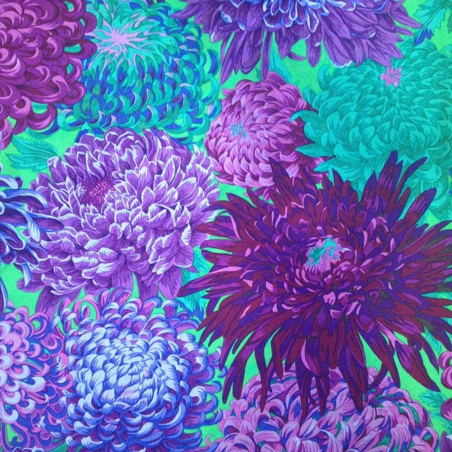 Kaffe Fassett Japanese Chrysanthemum Purple
