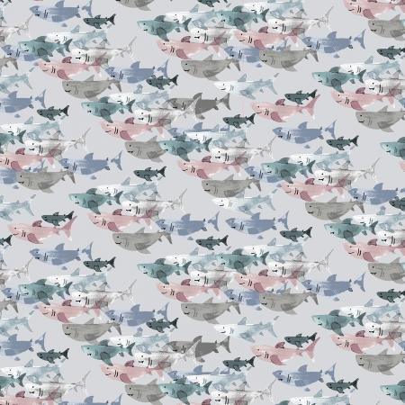 Cotton & Steel, Kaikoura, Shark Frenzie Cloud