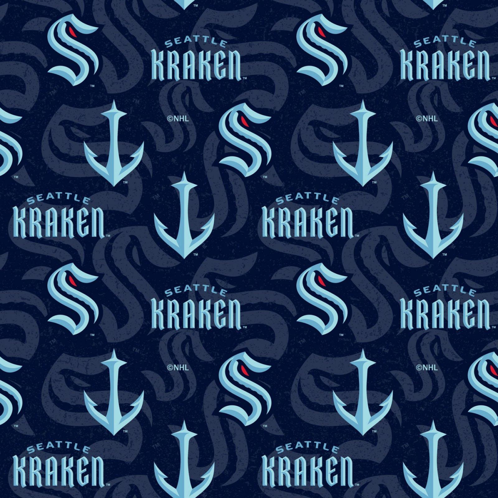 Seattle Kraken - Licensed 100% Cotton Fabric