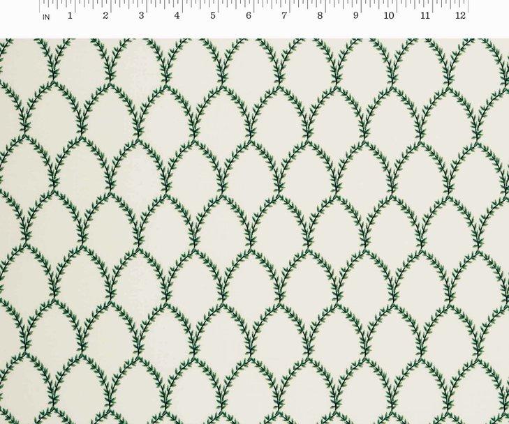 Cotton + Steel, Strawberry Fields - Laurel Green & Cream
