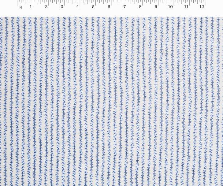 Cotton + Steel, Strawberry Fields - Laurel Stripe Periwinkle