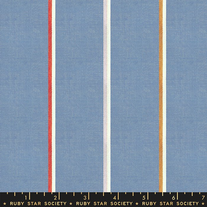 Ruby Star Society, Warp & Weft Heirloom - Linework Blue Slate