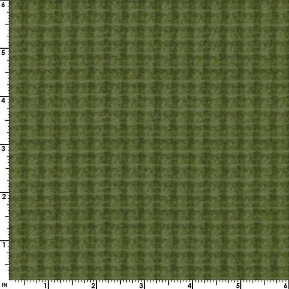 Maywood Studio Woolies Flannel Green Houndstooth