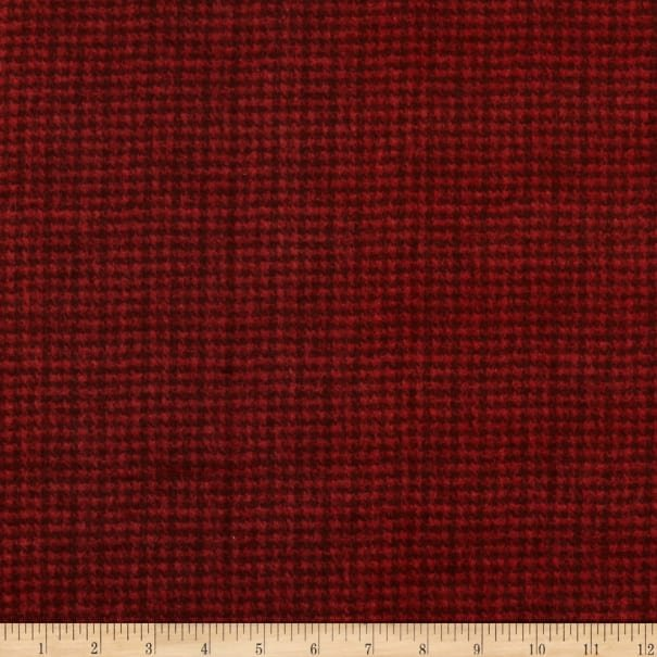Maywood Studio Woolies Flannel Dark Red Houndstooth