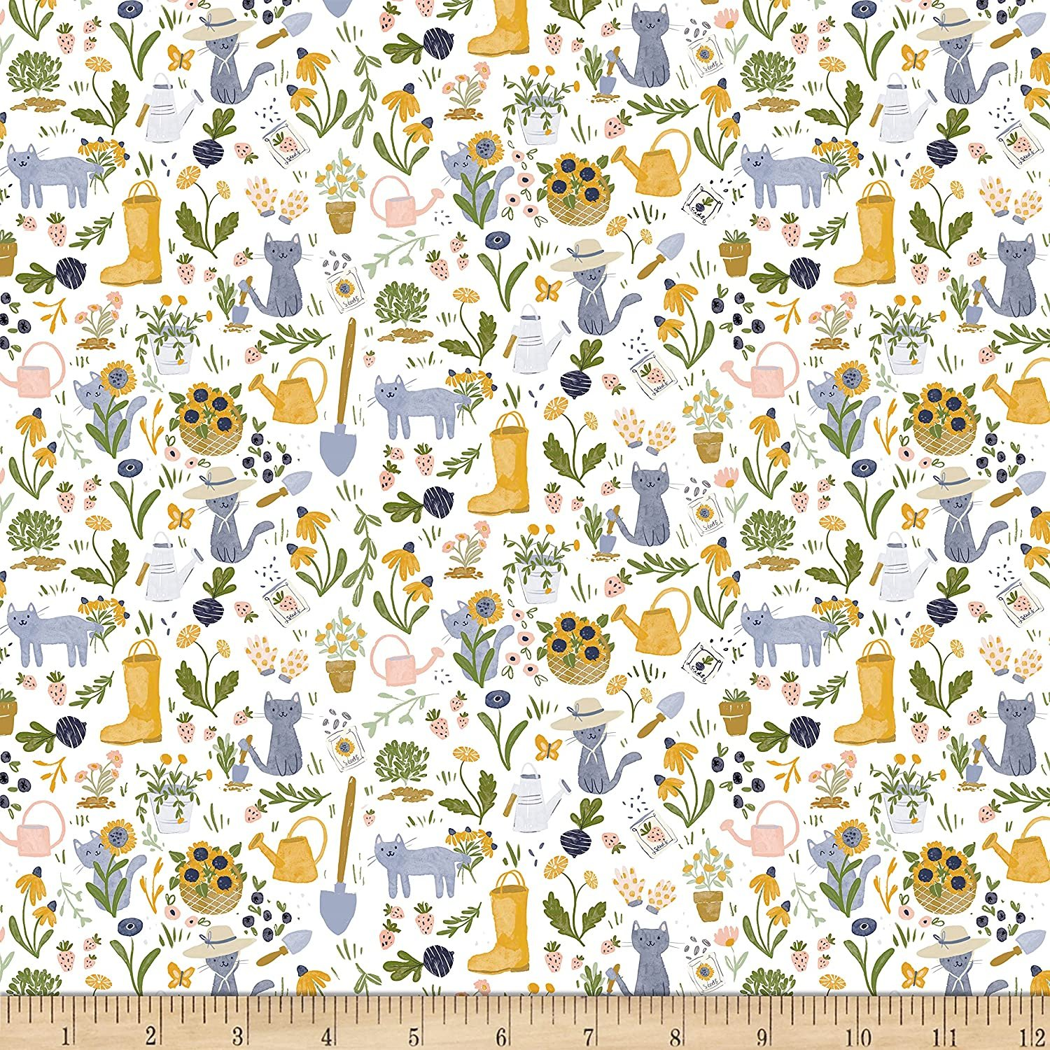Dear Stella, Meant to Bee - Gardening Cats - White