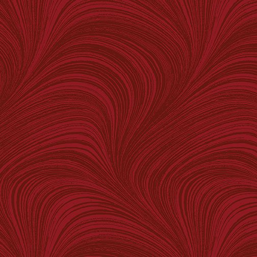 Benartex, WAVE TEXTURE, Medium Red