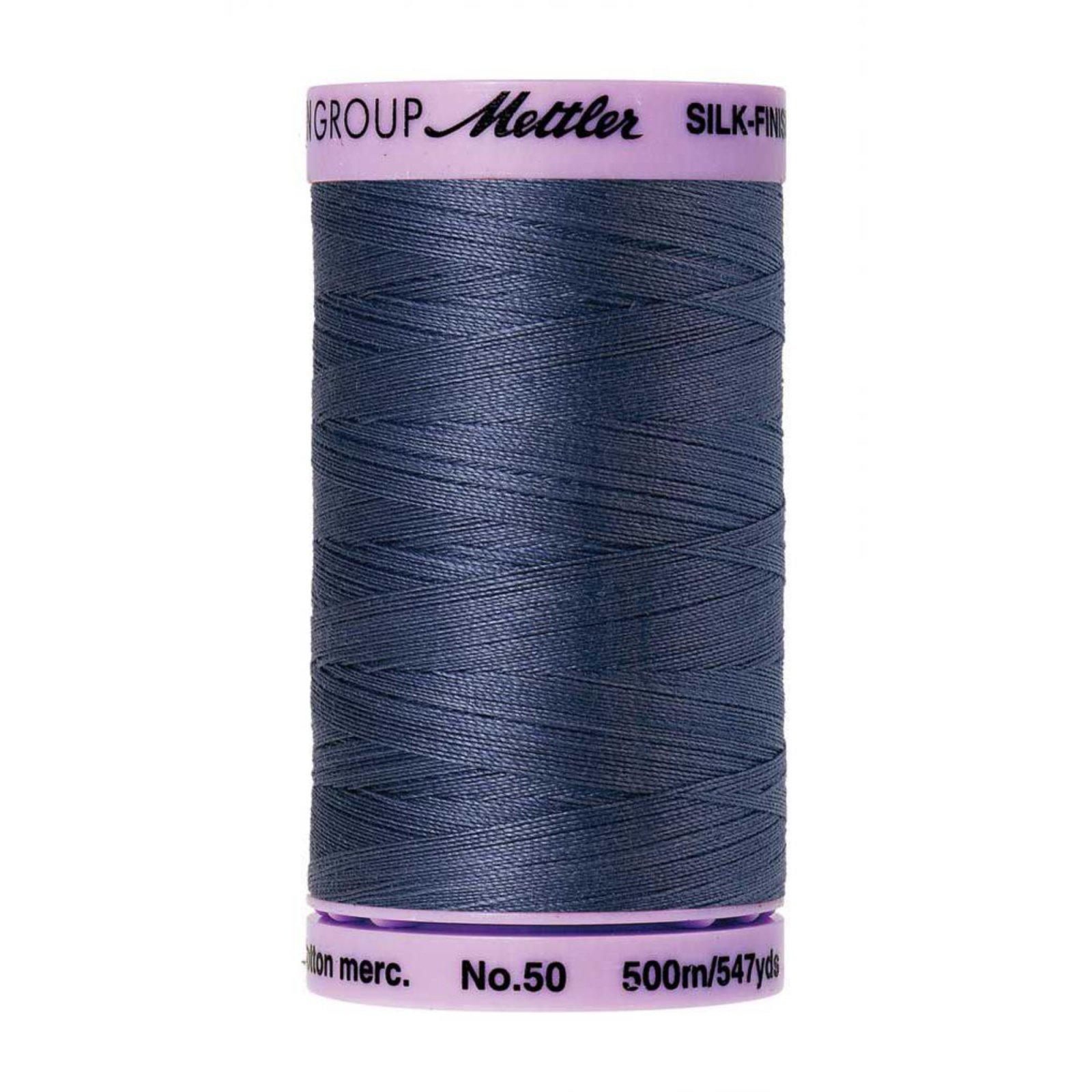 Mettler Silk Finish Cotton Thread Iris Blue
