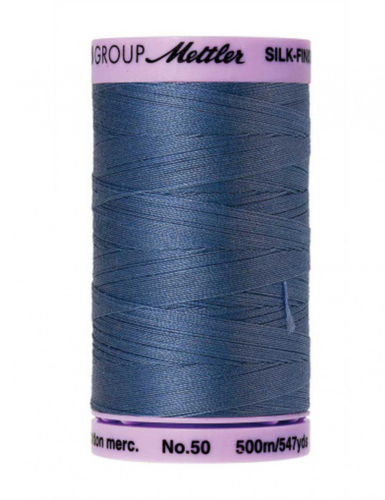 Mettler Silk Finish Cotton Thread Smoky Blue