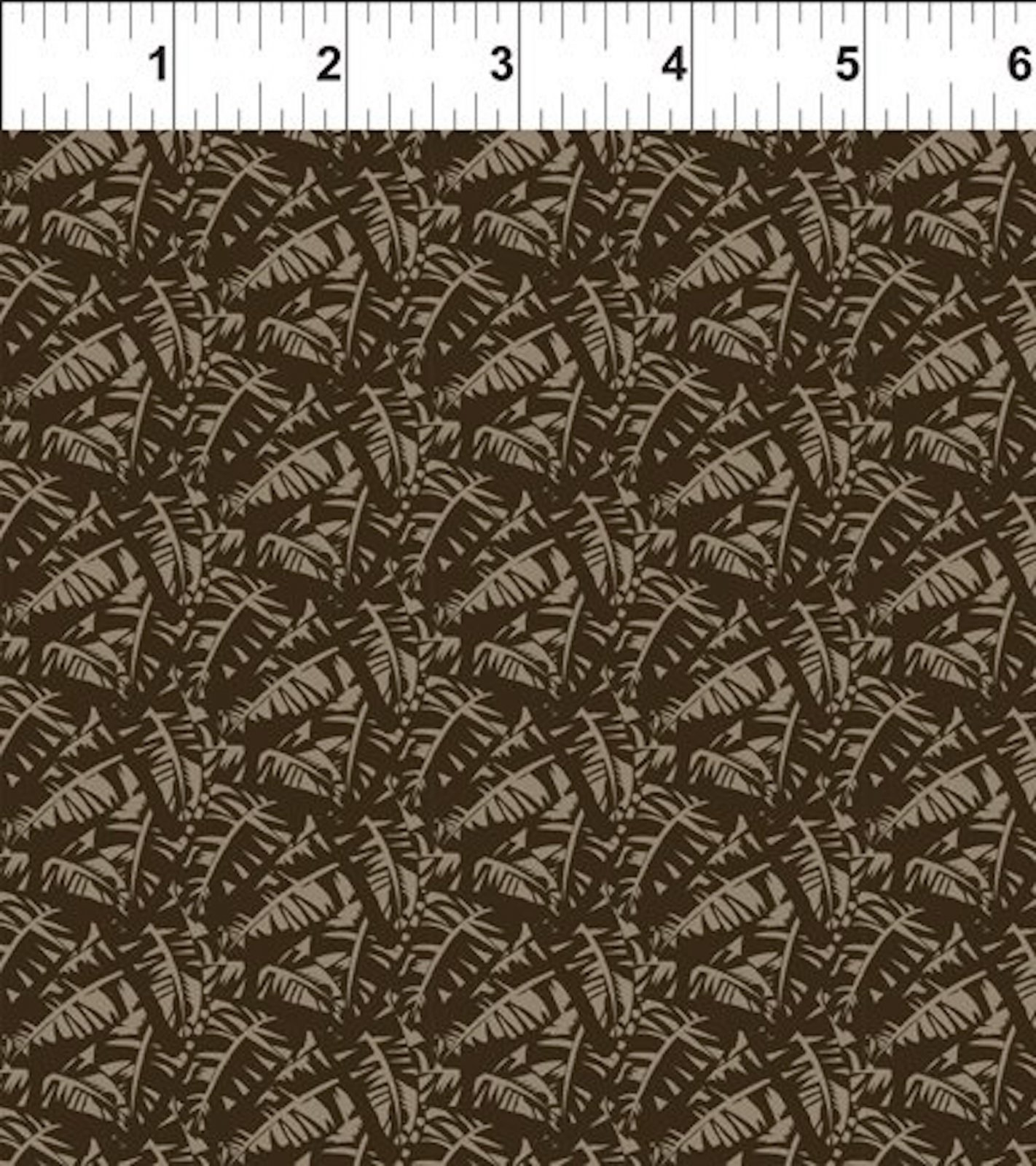 Mini Tropicals Leaf Tonal Brown by In The Beginning
