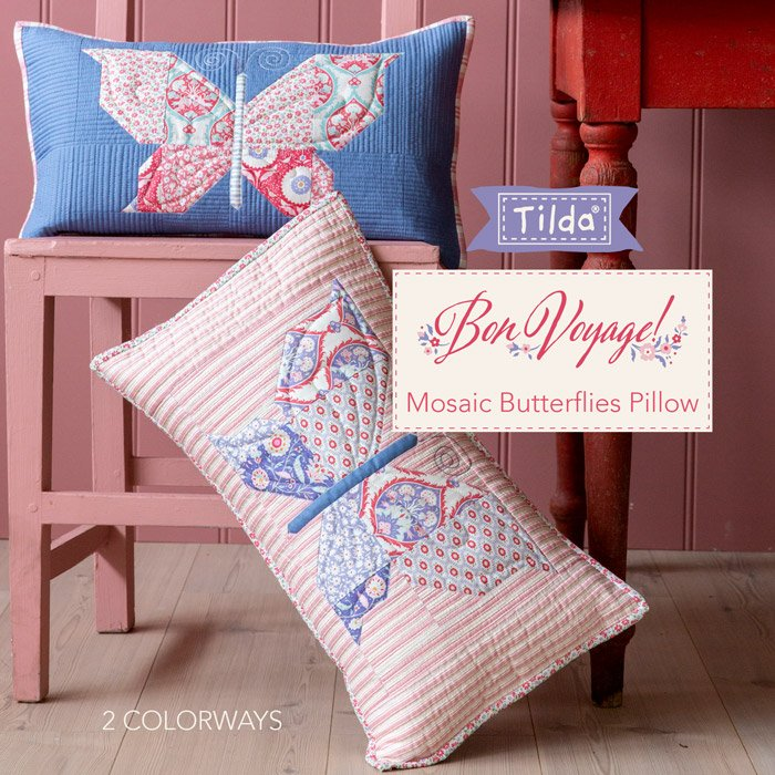 FREE PATTERN! Mosaic Butterfly Pillow - Tilda