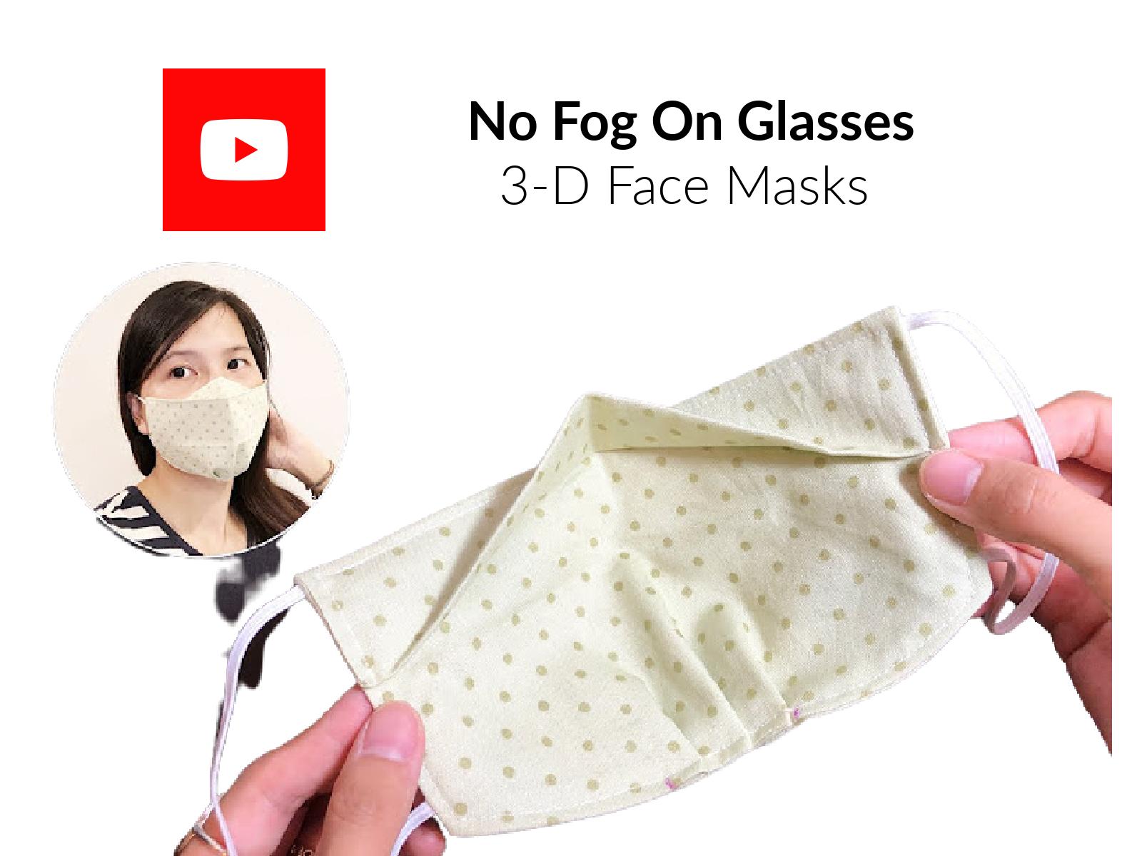 NO FOG on Glasses Face Mask
