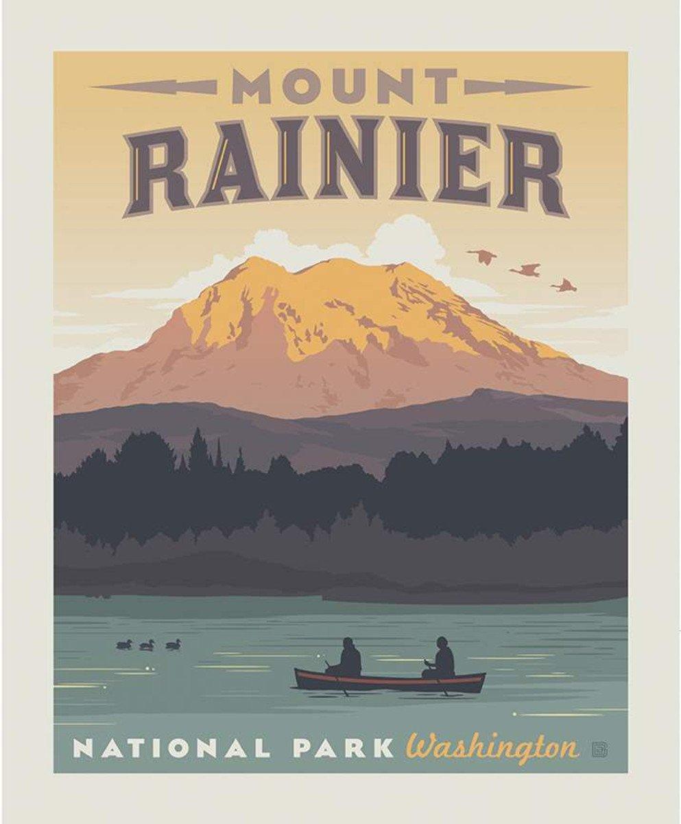 Riley Blake, National Parks Poster Panel Mount Rainier