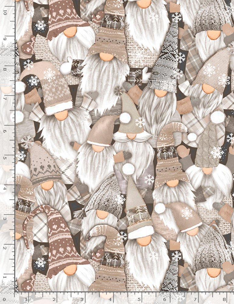 Timeless Treasures, Holiday Gnomes Natural - Packed