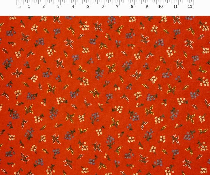 Cotton + Steel, Strawberry Fields - Petites Fleurs Red
