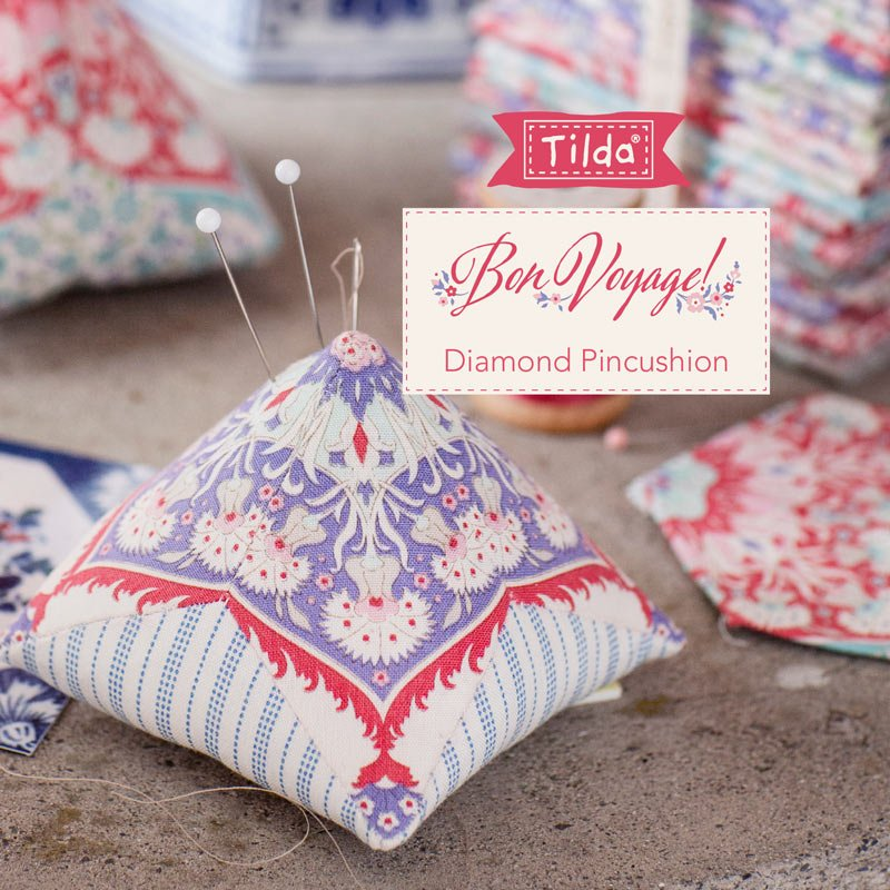 FREE PATTERN! Diamond Pin Cushion- Tilda