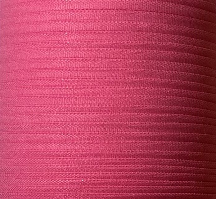 1/6 inch Banded Tube Elastic PINK - 10 yards