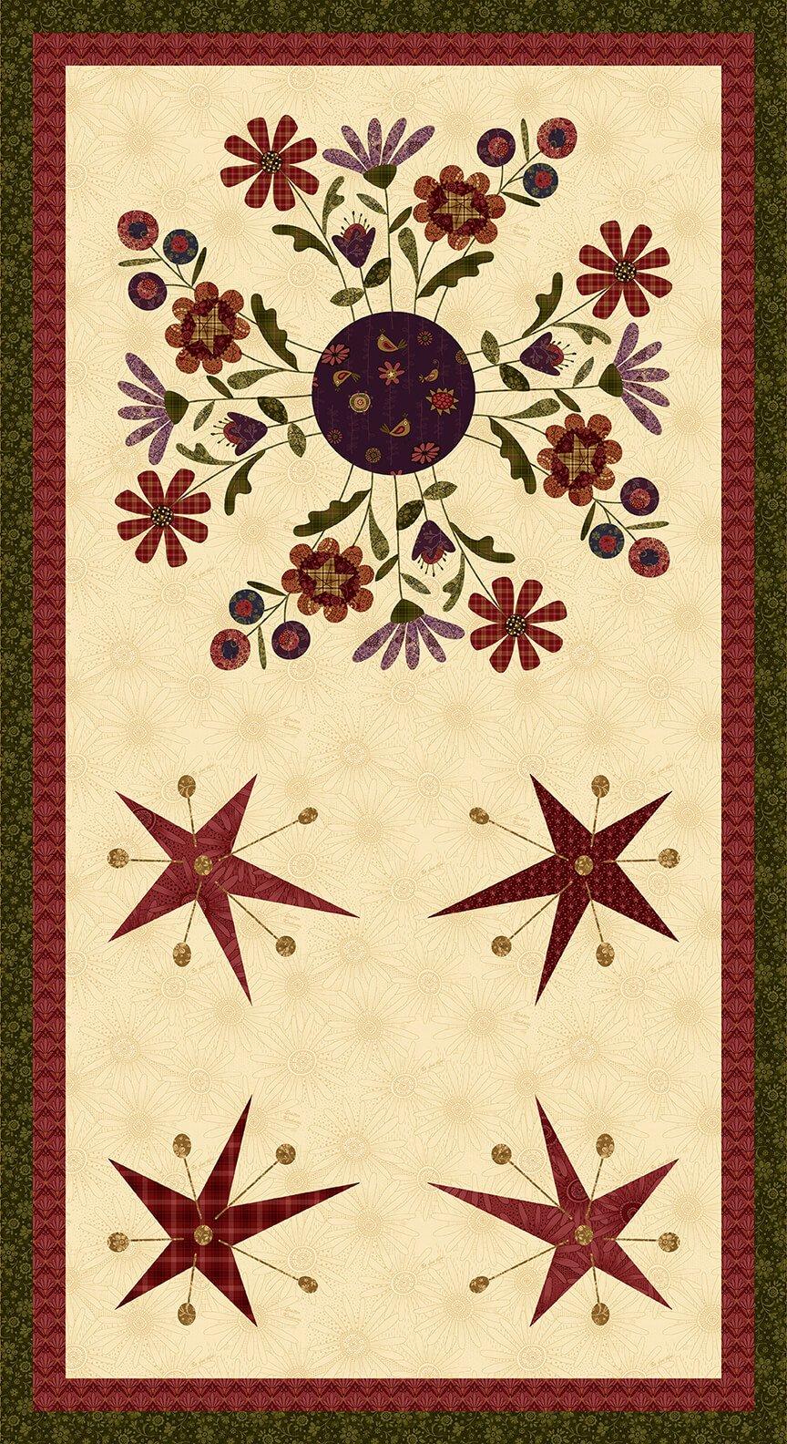 Henry Glass - Plant Kindness by Janet Nesbitt - Panel Cream