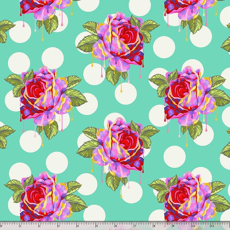 Tula Pink, Curiouser and Curiouser,  Roses - Wonder