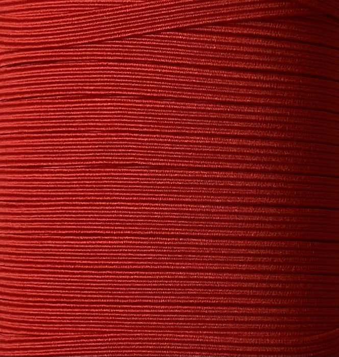1/4 inch Braided Elastic RED - 10 yards