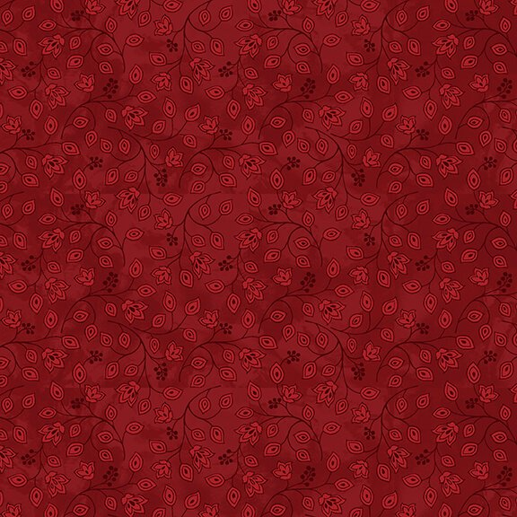 Henry Glass, Jacobean Joyeux - Red Mini Bud
