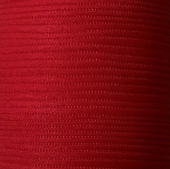 1/6 inch Banded Tube Elastic RED - 10 yards