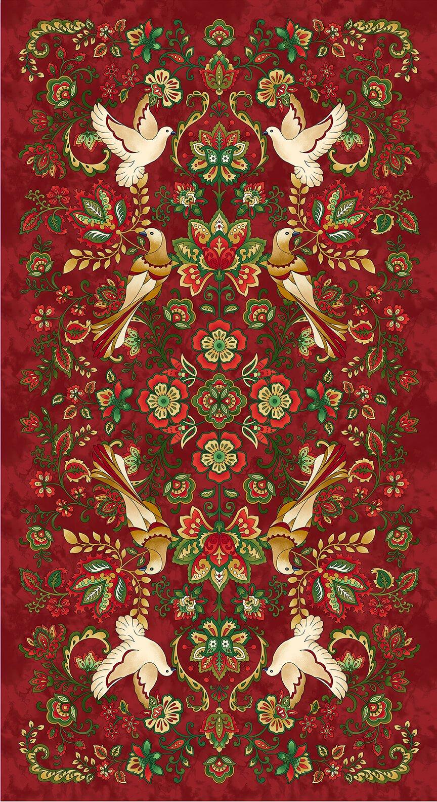 Henry Glass, Jacobean Joyeux - Red Panel