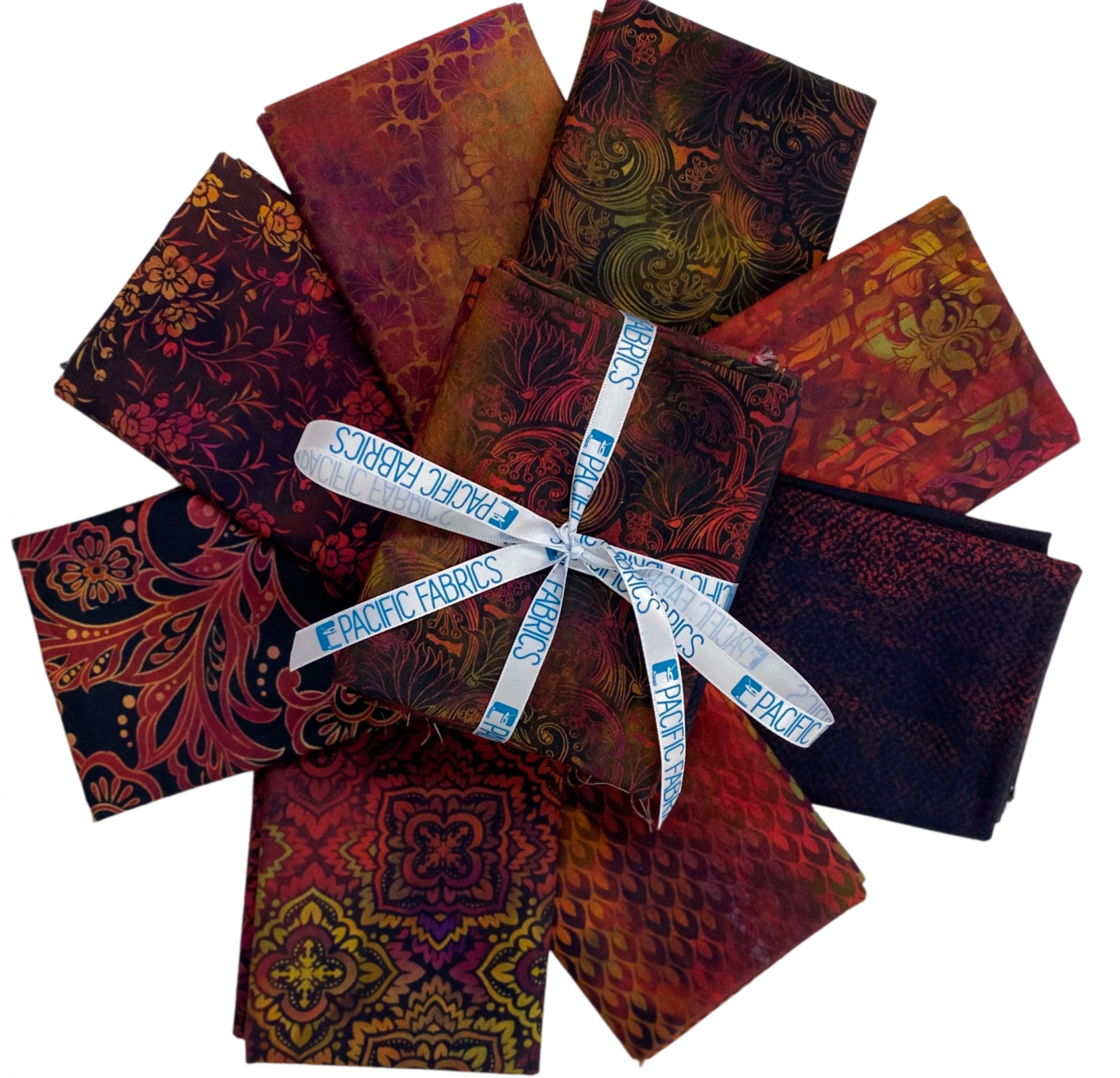 In the Beginning, Tapestry in RED Fat Quarter Bundle 8 pc