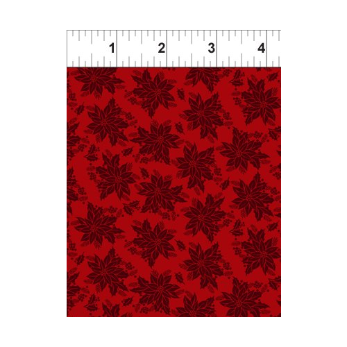 In the Beginning Winter Twist - Red Tonal Floral