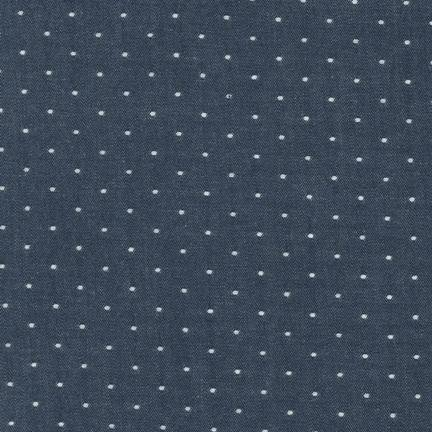 Robert Kaufman Cotton Chambray Dots