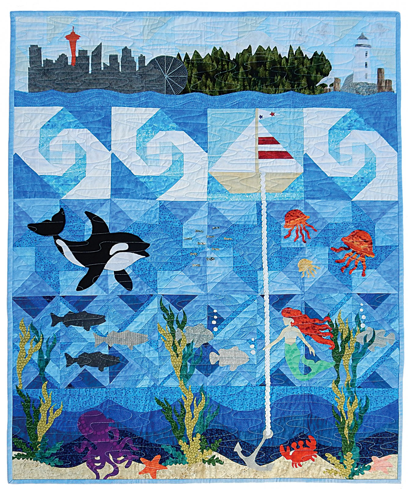 2015 Row by Row Seattle Seascape Full Pattern