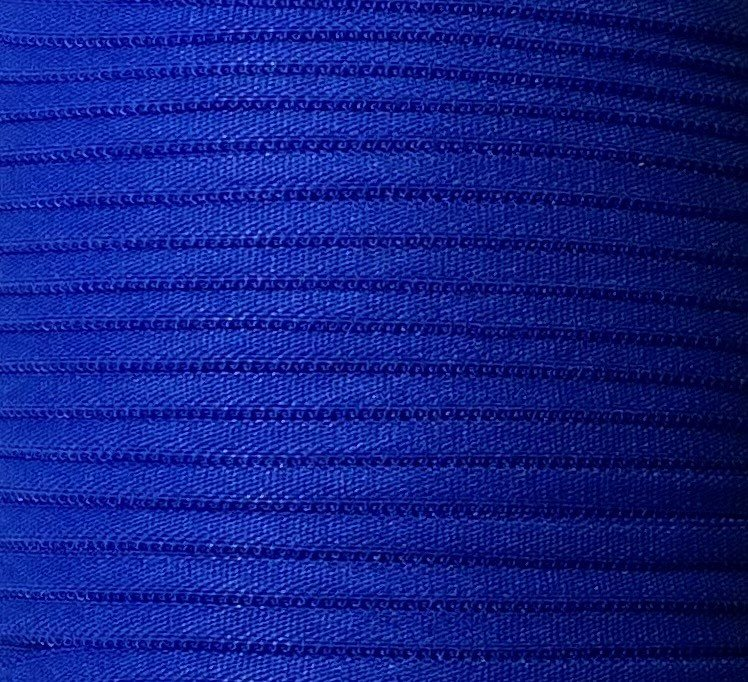 1/6 inch Banded Tube Elastic DARK BLUE - 10 yards
