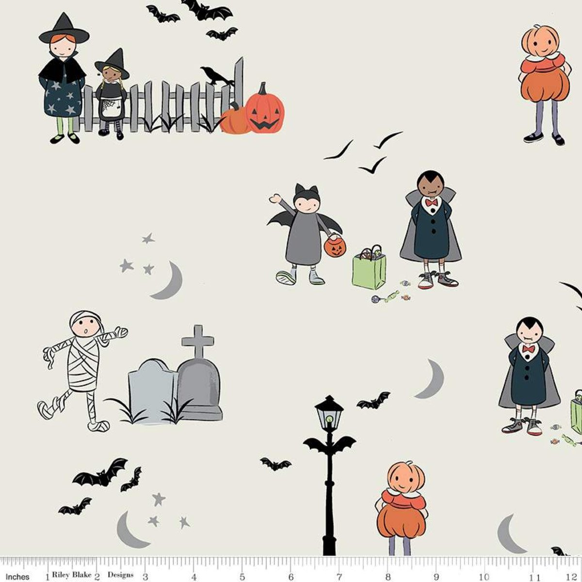 Riley Blake Designs, Spooky Hollow - Main Eggshell