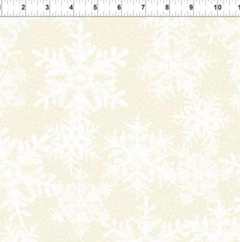 In the Beginning Winter Twist - Cream Snowflakes