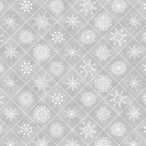 Henry Glass, Holiday Lane -  Snowflakes Gray