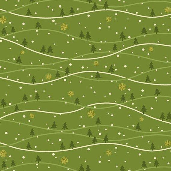 Andover, Metallic Mistletoe - Snowy Hills Green