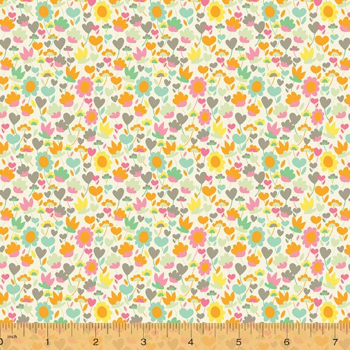 WINDHAM FABRICS, Solstice by Sally Kelly - Buttercup Sand