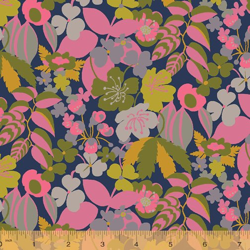 WINDHAM FABRICS, Solstice by Sally Kelly - Camellia Pink