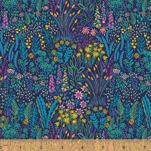 WINDHAM FABRICS, Solstice by Sally Kelly - Meadow Dark