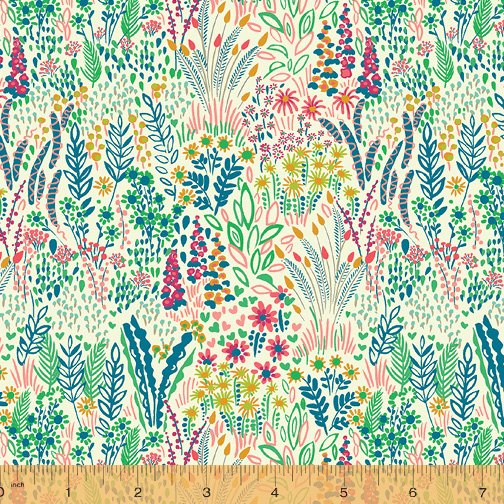 WINDHAM FABRICS, Solstice by Sally Kelly - Meadow Sand
