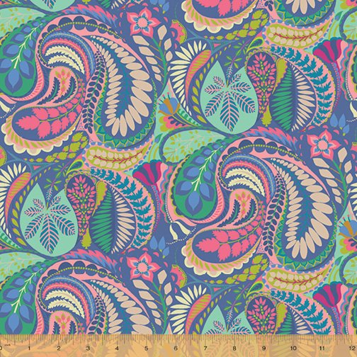 WINDHAM FABRICS, Solstice by Sally Kelly - Prince Paisley Blue